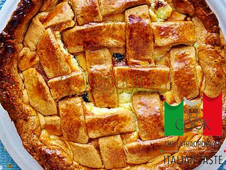Пирог с рикоттой, итальянская кухня.