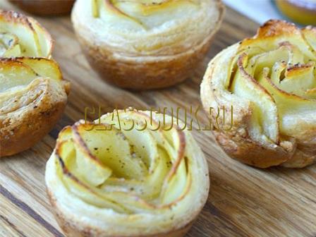 Розочки из картофеля.