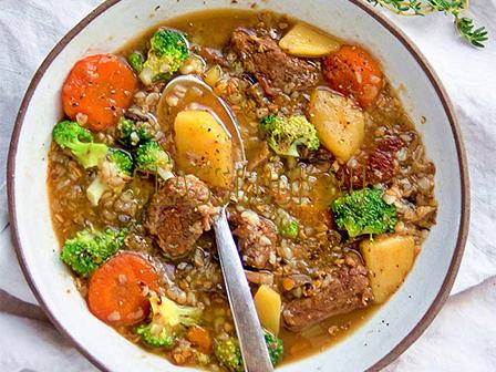 Суп из говядины.