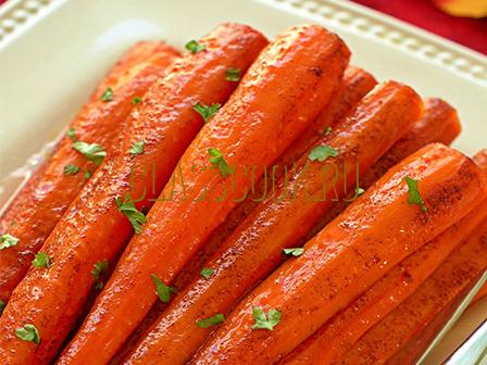 Запеченная морковь.