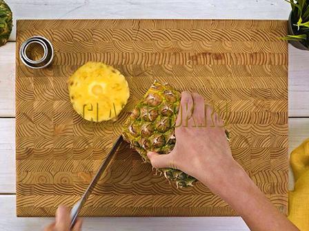 Как очистить ананас.