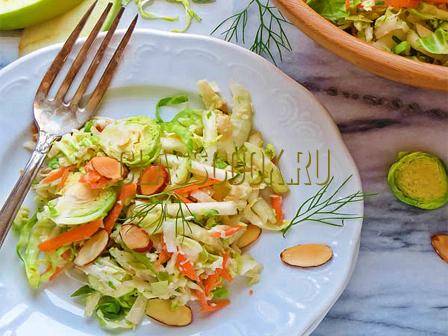 Салат со свежей капустой.